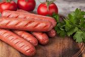 Salsichas — Fotografia Stock