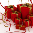 Illustration of boxes with christmas gifts — Stock Photo