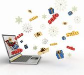 Concept of Christmas online shopping — Stock Photo