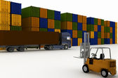 Loading of container — Stock Photo