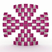 Geometrical form is formed by the coloured boxes — Stock Photo