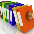 Safety of office documents and folders — Stock Photo #14744137