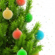 Close-up illustration of christmas tree - 图库照片