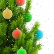 Close-up illustration of christmas tree — Stock Photo