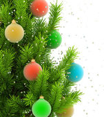 Close-up illustration of christmas tree — ストック写真