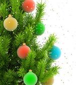 Ilustración cerca del árbol de navidad — Foto de Stock