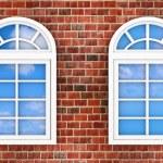 Windows on the brick wall — Stock Photo #18946185
