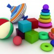 Illustration of child's toys. - Stock Photo