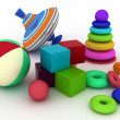 Illustration of child's toys. — Stock Photo