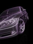 Vista frontal dos carros modelo moderno — Fotografia Stock