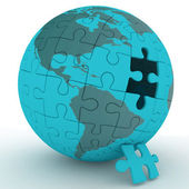 Spherical jigsaw — Stock Photo