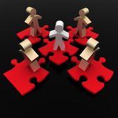 Konceptuella ledarskap koncept — Stockfoto