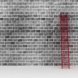 ladder against near old wall with space for text — Stock Photo