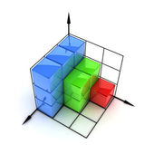 Three-dimensional graph — Stock Photo