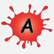 The letter a in the inkblot — Stock Vector