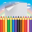 Colored pencils — Imagen vectorial