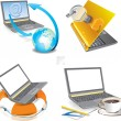 Vector icons laptop. business and technology — Stock Vector