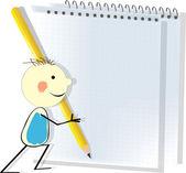 Crianças mão-desenho estilo educacional ícone conjunto. — Vetor de Stock