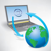 Rede global da internet — Vetor de Stock