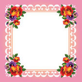 Vector frame with beautiful flowers — Stock Vector