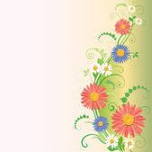 Beautiful vector illustration with flowers — Stock Vector