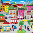 City Vector Illustration — Vettoriale Stock #20801153
