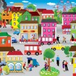 City Vector Illustration - Stockvectorbeeld