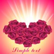 Heart from roses - Stock Vector