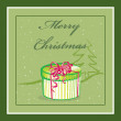 Christmas card with a gift - Stock Vector