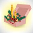 Stock Vector: Christmas box
