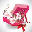 Royalty-Free Stock Vector Image: Open box with flowers
