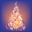 Modern christmas tree. Christmas vector backgrounds. — Stock Vector