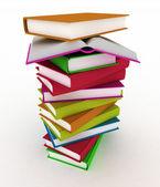 3d books on background white — Stock Photo