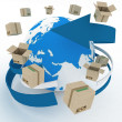 Worldwide shipping concept. — Stock Photo