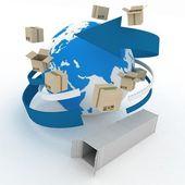 全球航运概念. — 图库照片