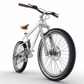 Bicycle isolated on white background — Stock Photo