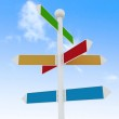 Direction road signs on blue sky background — Stock Photo #24320563