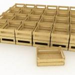 Empty wooden boxes — Stock Photo #25080167
