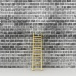 Stock Photo: Ladder against near old wall