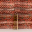 Ladder against near old wall — Stock Photo