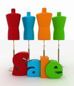 Prodej pro oděvy — Stock fotografie