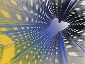 Abstract modern building. — Stock Photo