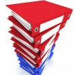 3d rendering folders for papers — Stock Photo
