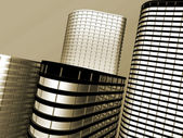 Skyscrapers of offices — Stock Photo