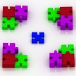 3d constituent of puzzle. conception of choice — Stock Photo