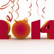 2014 year. Isolated 3D image — Stock Photo