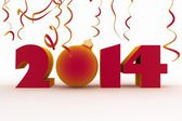 Rok 2014. izolované 3d obraz — Stock fotografie