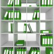 Office cupboard with different folders — Stock Photo