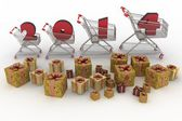 Concept of new-year sales — Stock Photo