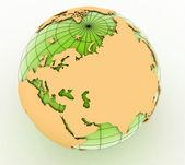 Gold globe art — Stock Photo